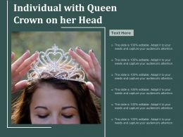 Individual With Queen Crown On Her Head