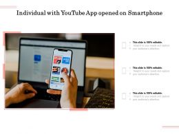 Individual With Youtube App Opened On Smartphone