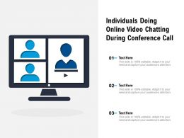 Individuals Doing Online Video Chatting During Conference Call