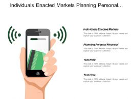 Individuals Enacted Markets Planning Personal Financial Consumer Spending
