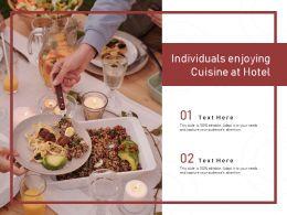 Individuals Enjoying Cuisine At Hotel