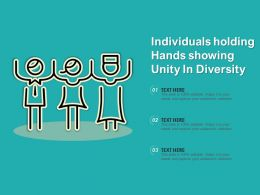 Individuals Holding Hands Showing Unity In Diversity