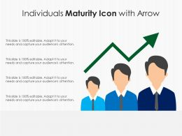 Individuals Maturity Icon With Arrow