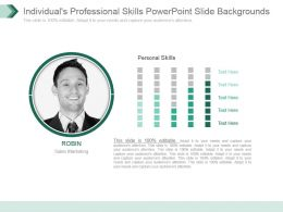 Individuals Professional Skills Powerpoint Slide Backgrounds