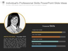 Individuals Professional Skills Powerpoint Slide Ideas