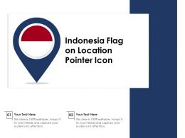 Indonesia Flag On Location Pointer Icon