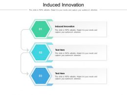 Induced Innovation Ppt Powerpoint Presentation Inspiration Topics Cpb