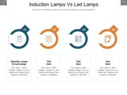 Induction Lamps Vs Led Lamps Ppt Powerpoint Presentation Layouts Clipart Cpb
