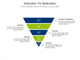 Induction Vs Deduction Ppt Powerpoint Presentation Gallery Elements Cpb