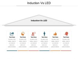 Induction Vs LED Ppt Powerpoint Presentation Gallery Graphics Design Cpb