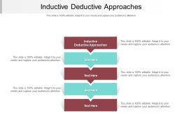 Inductive Deductive Approaches Ppt Powerpoint Presentation Gallery Diagrams Cpb