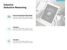 Inductive Deductive Reasoning Ppt Powerpoint Presentation Professional Show Cpb