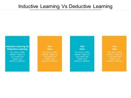 Inductive Learning Vs Deductive Learning Ppt Powerpoint Presentation Summary Graphics Cpb
