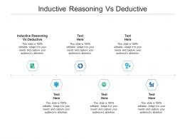 Inductive Reasoning Vs Deductive Ppt Powerpoint Presentation Infographics Slides Cpb