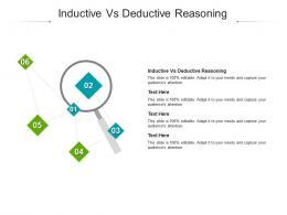 Inductive Vs Deductive Reasoning Ppt Powerpoint Presentation Portfolio Topics Cpb