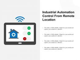 Industrial Automation Control From Remote Location
