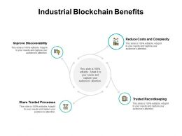 Industrial Blockchain Benefits Costs And Complexity Ppt Powerpoint Presentation Slides