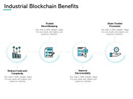 Industrial Blockchain Benefits Processes Improve Ppt Powerpoint Presentation Gallery Graphics