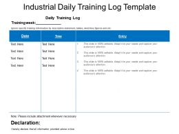 Industrial Daily Training Log Template