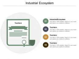 Industrial Ecosystem Ppt Powerpoint Presentation Infographic Template Templates Cpb