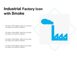Industrial Factory Icon With Smoke