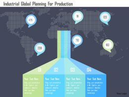 Industrial Global Planning For Production Flat Powerpoint Design