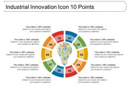 Industrial Innovation Icon 10 Points