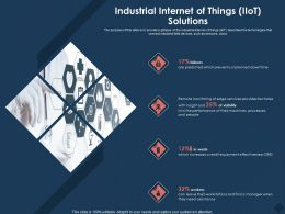Industrial Internet Of Things IIOT Solutions Their Machines Ppt Powerpoint Presentation Model Microsoft