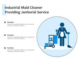 Industrial Maid Cleaner Providing Janitorial Service