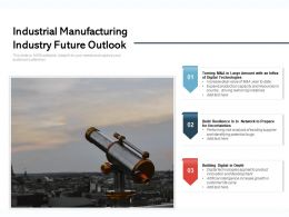 Industrial Manufacturing Industry Future Outlook