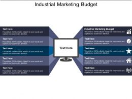 Industrial Marketing Budget Ppt Powerpoint Presentation Ideas Designs Download Cpb
