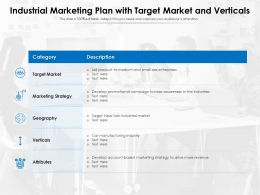 Industrial Marketing Plan With Target Market And Verticals