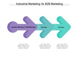 Industrial Marketing Vs B2b Marketing Ppt Powerpoint Presentation Pictures Gallery Cpb