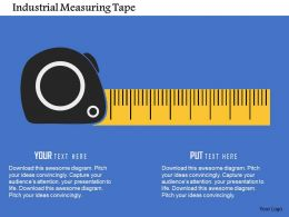 Industrial Measuring Tape Flat Powerpoint Design