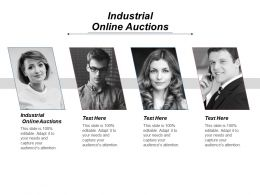 Industrial Online Auctions Ppt Powerpoint Presentation Icon Infographic Template Cpb