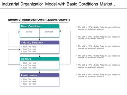 Industrial Organization Model Analysis With Basic Conditions And Industry Structure