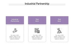 Industrial Partnership Ppt Powerpoint Presentation Styles Design Ideas Cpb