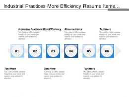 Industrial Practices More Efficiency Resume Items Waste Disposal