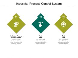 Industrial Process Control System Ppt Powerpoint Presentation Show Visuals Cpb