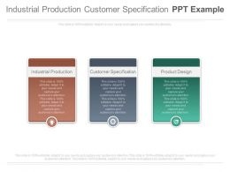 Industrial Production Customer Specification Ppt Example