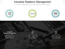 Industrial Relations Management Ppt Powerpoint Presentation Pictures Files Cpb