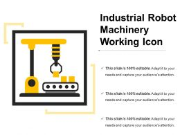 Industrial Robot Machinery Working Icon
