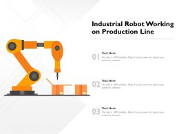 Industrial Robot Working On Production Line