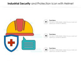 Industrial Security And Protection Icon With Helmet