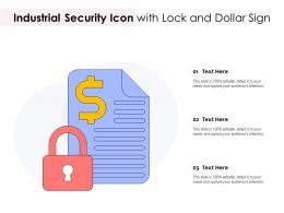 Industrial Security Icon With Lock And Dollar Sign