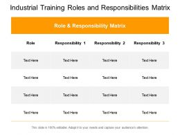 Industrial Training Roles And Responsibilities Matrix
