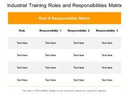 Industrial Training Roles And Responsibilities Matrix