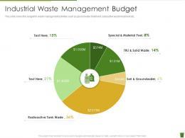 Industrial Waste Management Budget Industrial Waste Management Ppt Pictures