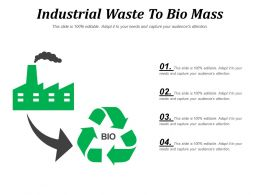 Industrial Waste To Bio Mass