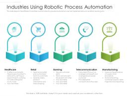 Industries Using Robotic Process Automation